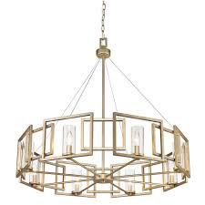 golden lighting chandelier. Golden Lighting 6068-8-WG Marco WG 8 Light Chandelier In White Gold With E