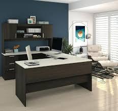 l shaped home office desk. U Shaped Office Desk Modern In Dark Chocolate White Finish L Home D