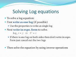 solving logarithmic equations calculator talkchannels
