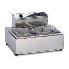roband f111 single 11 litre pan countertop deep fryer with 2 basket
