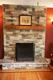 On Interior With Fresh Stacked Veneer Diy  Fresh Faux Stone Stacked Stone Veneer Fireplace