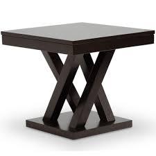 baxton studio everdon dark brown end table