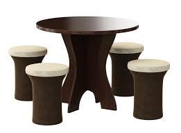<b>Обеденная группа</b> для кухни <b>Мебелико Лотос</b> (4-пуфа) в ...