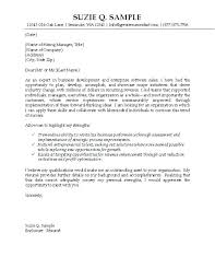Professional Cover Letter Format Resume Web