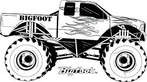 Bigfoot Coloring Pages Monster Truck Coloring Pages Free Printable