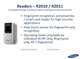 samsung techwin access control s presentation ppt 28 readers
