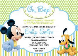 baby mickey mouse invitations birthday disney baby mickey mouse inspired baby shower or birthday