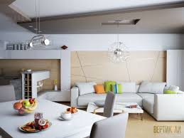 Interior Design For Living Room And Kitchen Residential Interior Design For Living Room Dining And Kitchen In