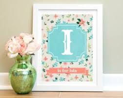 >prints etsy nz girls wall art personalized baby girl nursery print child wall art new mom gift nursery decor girl coral teal nursery baby shower gift