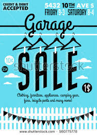 sale signs printable garage yard sale signs box household stock vector hd royalty free
