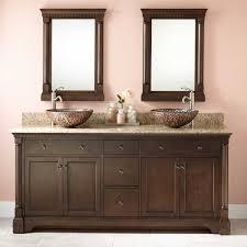 Elegant Wood Sink Vanity Signature Hardware - Reglaze kitchen sink