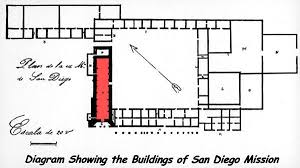 Layout Of San Diego De Alcala   California Missions Resource Center