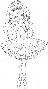 Ballerina Kleurplaat Stockvector Malyaka 75102519