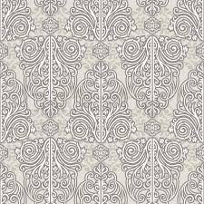 Silver Pattern Cool Abstract Beautiful Background Royal Damask Ornament Vintage Rich