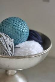 Decorative Balls For Bowl Blue
