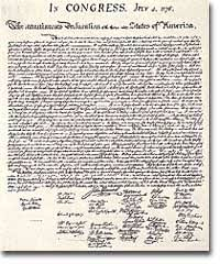 independence and the articles of confederation org  the declaration of independence