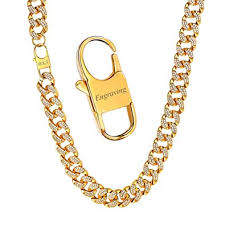 Personalize Iced Out Cuba Chain Necklace, 14MM Width Curb ...
