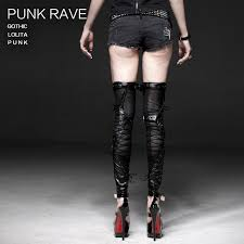new punk rave rock goth stretchy leather leg warmers s137 fast postage