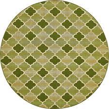 unique loom outdoor green 8 x 8 round indoor outdoor rug