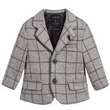 Boys Designer Blazer Baby Boys Grey Jersey Blazer Blazer For Boys Kids Fashion