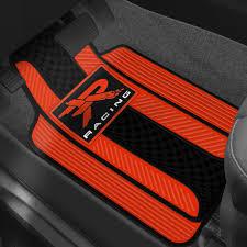 Plasticolor 001310R04 1st Row RedBlack Rubber Floor Mats with R