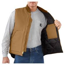 Carhartt Mens Vest - Duck - Arctic Quilt Lined - Carhartt Brown ... & More Views. black · carhartt brown Adamdwight.com