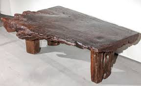 wood slab coffee table creative