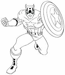 Captain America Coloring Sheets Captain Coloring Sheet Page Best