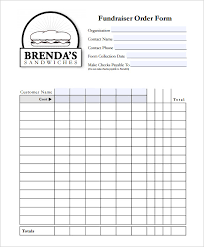 Fundraising Order Form Templates Fundraiser Order Form Template Template Business