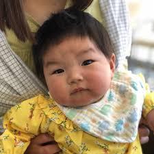 赤ちゃん筆のサナちゃん7ヶ月 ヘアサロンタカハシ高槻市の理容室