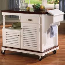 White Mobile Kitchen Island Very Modern and Elegant Mobile Kitchen