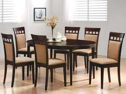 Oval Kitchen Table Sets Wood Oval Dining Table Antique White Finish Cottage Styling