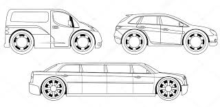 coloring book stylized cars set stock vector