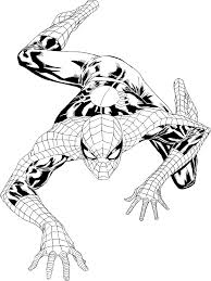 Color him in various poses and put him up on the wall! Free Printable Spiderman Coloring Pages For Kids