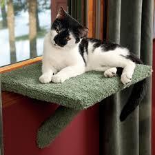 decor white simple cat perch hammoc style