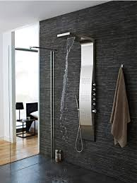 hudson reed surface curve stainless steel thermostatic shower panel