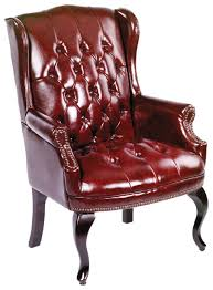 traditional wingback chairs. Amazon.com: Boss Office Products B809-BY Wingback Traditional Guest Chair In Burgundy: Kitchen \u0026 Dining Chairs