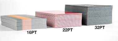 16pt Business Cards Thickness 14pt Vs 16pt Vs 100lb Which Paper
