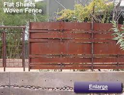 Plain Sheet Metal Fence Rusted By Some For Decorating Ideas