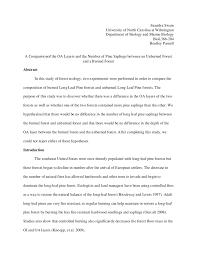 ecology lab report ecology lab report saundra swain university