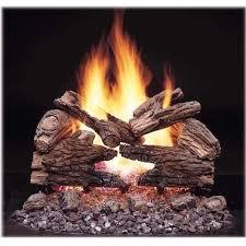 majestic gas logs 18 inch massive oak see thru vented propane gas log set millivolt on off remote ready gas log guys
