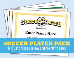 soccer awards templates soccer certificates soccer awards templates child