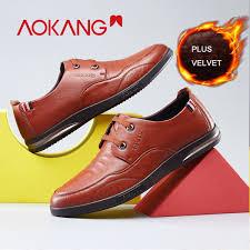 <b>AOKANG</b> 2018 <b>New Arrival</b> Winter Men Shoes Business Genuine ...