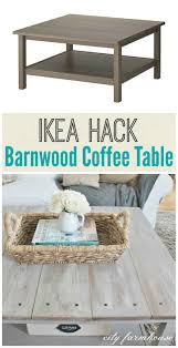 The very next day, our diy farmhouse coffee table topper was snugly in place. Ikea Hacked Barnboard Coffee Table Tutorial City Farmhouse