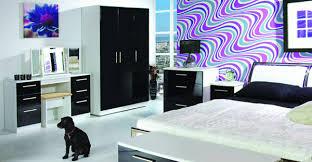 bedroom furniture black gloss. Knightsbridge High Gloss Black And White Bedroom Furniture