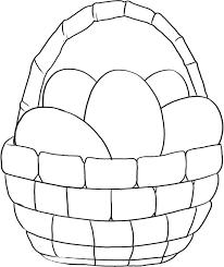 Easter Egg Basket Coloring Pages Easy Egg Coloring Pages Egg Basket