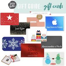 gift guides gift cards