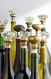 How To Make Decorative Wine Bottle Stoppers vintage door knob corks perfect as a bottle stopper or placed on 17