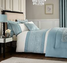 catherine lansfield ornate jacquard double duvet cover duck egg free delivery over 30 on all uk orders