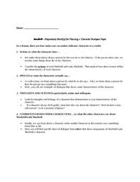 macbeth essay lady macbeth character analysis buy original essay macbeth analysis macbeth essay lady character